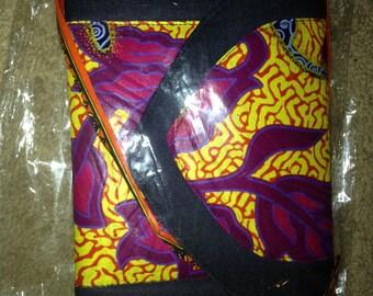 African print clutch wax