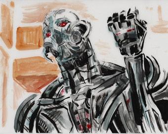 ultron marvel super villain avenger art print