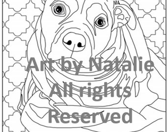 Printable coloring book page: dog in blanky