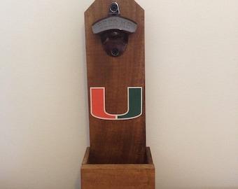Miami Hurricanes Wall Mounted Bottle Opener