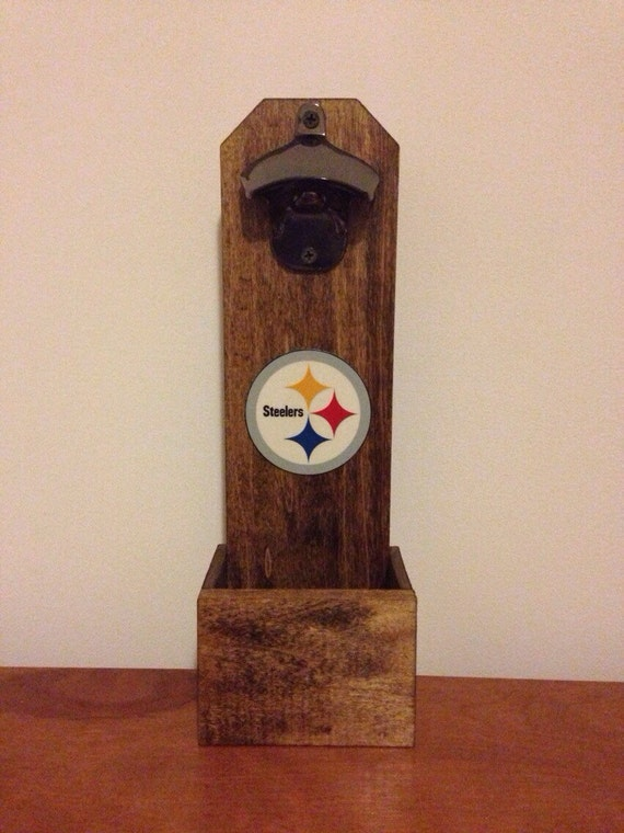 Wall Mounted Bottle Opener Pittsburgh Steelers By