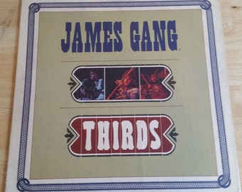 James Gang - Thirds - ABCX-721 - 1971 - Early 1971 Issue - Original ABC Center and Original Etching