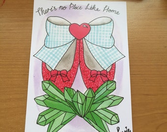 There's no Place like Home A5 print