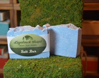 Salt Bar Soap - organic, handmade, all natural, cold process, vegan
