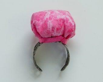 Pink Pin Cushion Ring, Pincushion