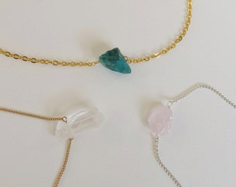 customizable crystal necklace