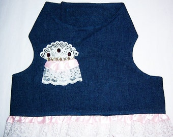 Lace and Denim Dog Harness