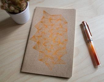Sketchbook - copper geometric pattern