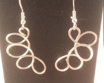 Sterling Silver Wire Earrings, Sterling Silver Wire Wrapped Earrings