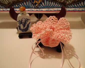 Potpourri and Sachet!  Ruffle Top Handmade Crochet Sachet from a Vintage Pattern!