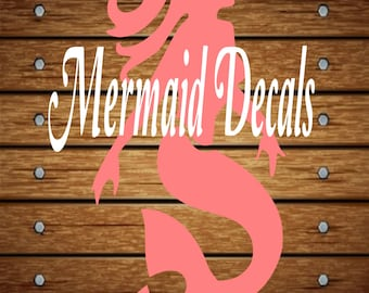 Mermaid Vinyl Decal Etsy - Mermaid custom vinyl decals for car
