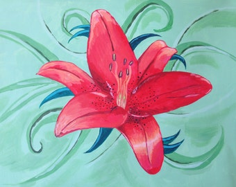 Framed orignal Lily