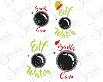 Christmas Cam Cut File Set Christmas SVG Santa SVG Elf SVG Santa Hat Elf Hat Svg Dxf Eps Png Silhouette Cricut Cut File Commercial Use