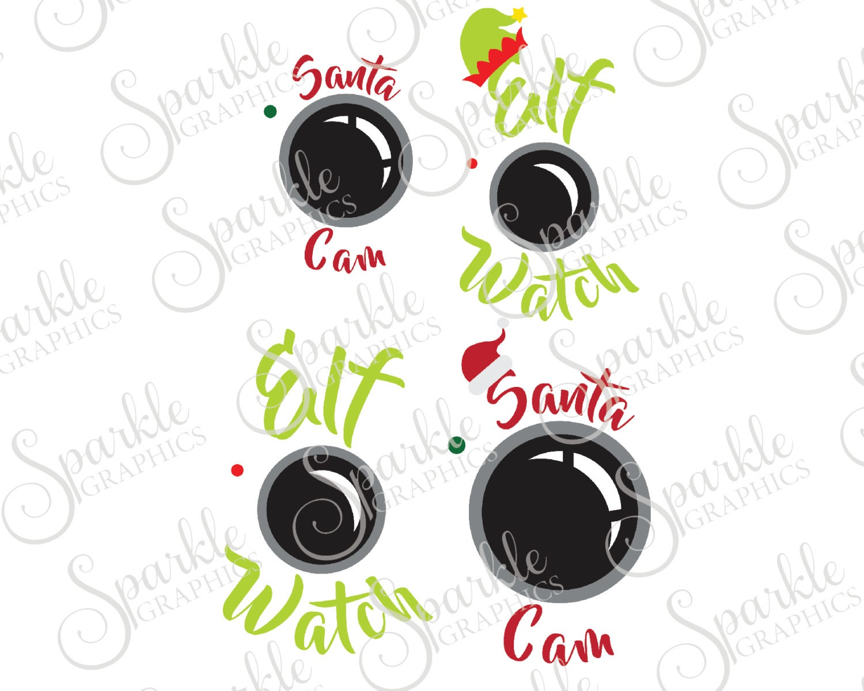 Camera christmas ornaments - Christmas Cam Cut File Set Christmas Svg Santa Svg Elf Svg Santa Hat Elf Hat Svg