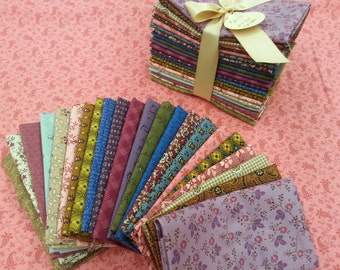 Twenty-Two Piece Fat-Eighths Bundle in Civil War Reproduction Fabrics