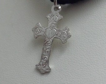 Handmade Sterling Silver Celtic Cross (14sil)