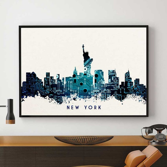 New york city new york skyline new york wall art decor for Home decor new york