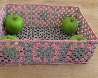Hand Crocheted Doily Basket, Home Decor, Doily Bowl, Doily, Doily Basket, Crochet Basket, Handmade Basket, Gift Idea, Knitted storage idea