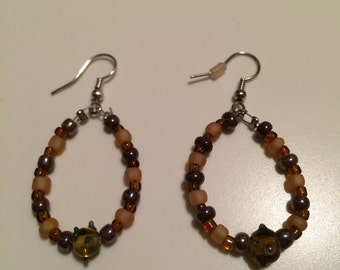 Brown Hoop Earrings