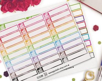Class Lecture Single Boxes Planner Stickers |  Erin Condren | Study | University | College | School