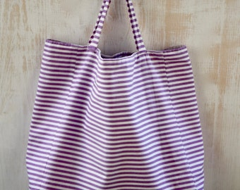 Fabric bag | Velvet stripes |