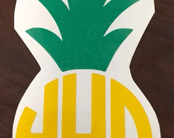 Pineapple vinyl monogram