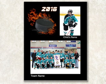 Hockey Memory Mate Template, Sports Mate, 8x10, Instant Download