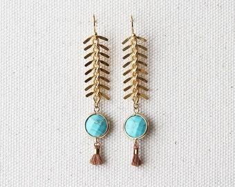 Glam Dangle Earring - Turquoise