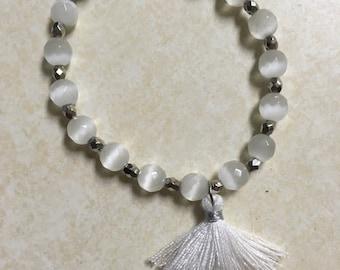 Glass Tassel Bracelet