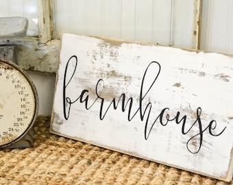 Farmhouse Sign | Farmhouse Decor | Cottage Kitchen | Rustic Home Decor | Whitewash Sign | French Country Kitchen | Farmhouse Kitchen Sign
