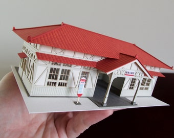 Architectural Model of a Japanese Train Station