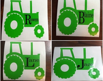 Personalized Tractor Decal, Yeti Decal