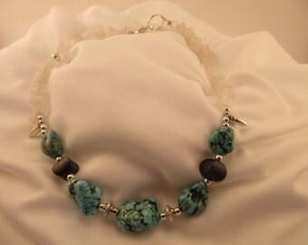 Turquoise, Silver & Quartz