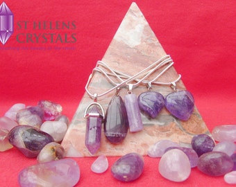 Natural Amethyst Crystal Gemstone Pendant collection