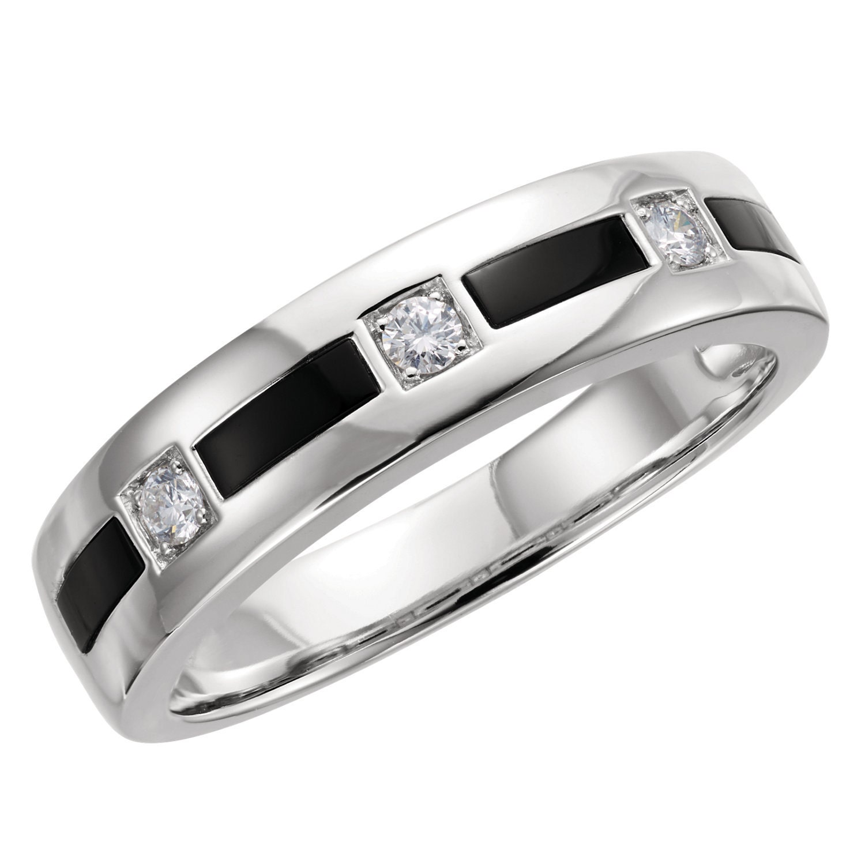 Stunning 14 karat gold onyx 1 6 carat diamond 6mm for 14 karats fine jewelry