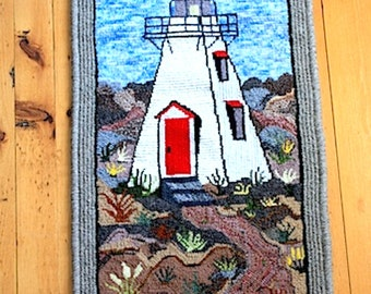 Hand Hooked Mat/Rug Wallhanging - Lovers Lane Light