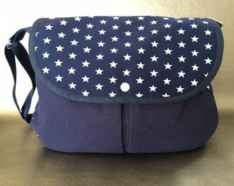 Navy Blue shoulder bag & stars