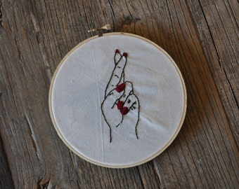Fingers Crossed Embroidery