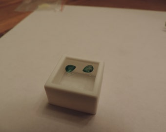 2 Loose 6x4mm Natural Colombian Emeralds 1.01tcw