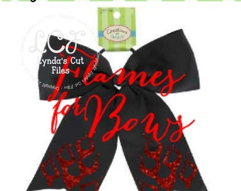 Flames for Cheer Bow//SVG//EPS/DXF file