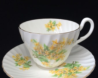 English Heathcote Fine China Tea Cup and Saucer
