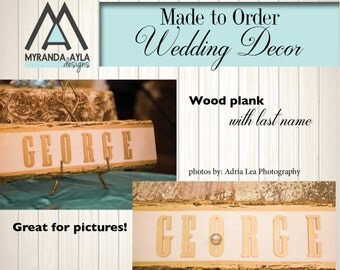 Rustic chic wood plank gilded with gold