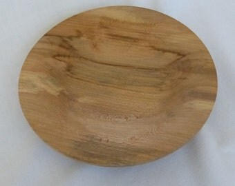 handturned simple small platter in Pear wood
