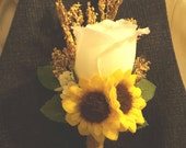 Rose and Sunflower Boutonniere