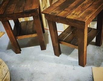 Custom Pallet Side Table
