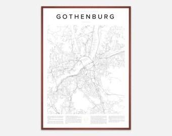Gothenburg Map Print