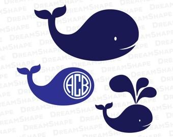 Whale SVG, Fish SVG Files, Monogram Svg Files, Whale Svg Files, Fish Svg Files, Die Cut Machine, Vinyl Cutters, Fish SVG, Instant Download