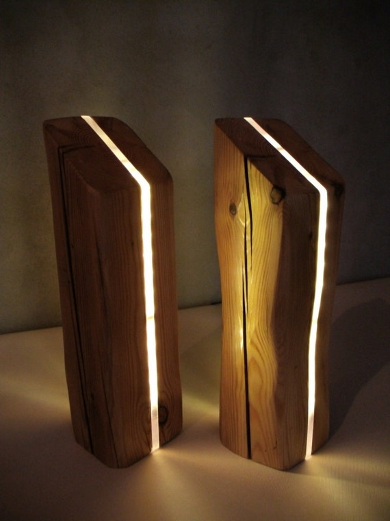 Wood Lamp Led Light Table Mood Lamp Night Table Lamp Unique