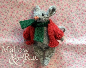 Knitted mouse | stuffed collectible mouse | cute mouse doll | OOAK soft sculpture doll
