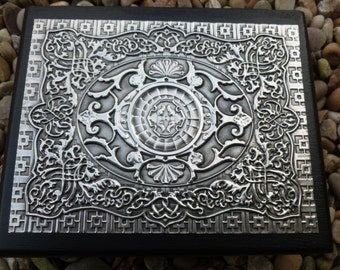 Playing Card Storage Box with Vintage Pewter Detail